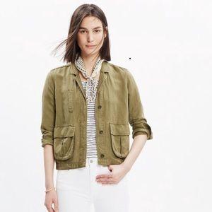 Madewell Olive League Cargo Jacket